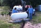 250 gallon above ground propane tank installation