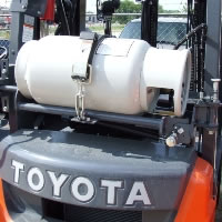 Propane cylinder exchange services for forklifts in the San Antonio area